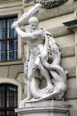 Heracles fighting the Hydra -- Photo by http://www.flickr.com/photos/dierkschaefer/